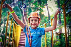a kids front shot during a summer camp activity