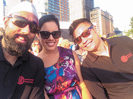 Dr. Singh, Dr. Kristina Quirolgico, and Dr. Michael Sein