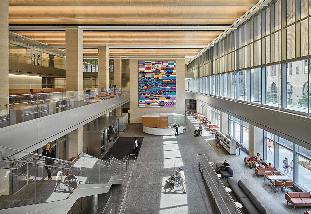 Main lobby of the NewYork-Presbyterian David H. Koch Center