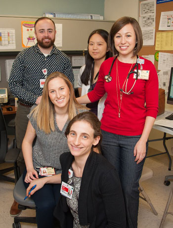 family medicine residents posing for the camera