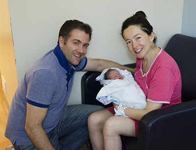 Baby Jacob with parents