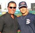 Lee Mazzilli and L.J. Mazzilli at MCU Park