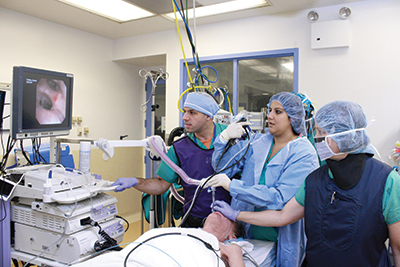 5th navigational bronchoscopy at NYM in the OR