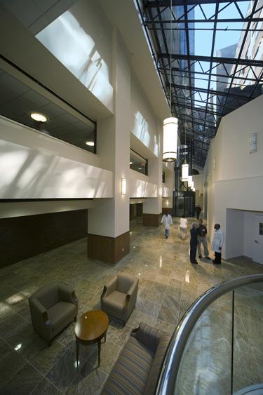 The Hospital's recently renovated atrium