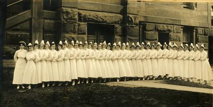 The Methodist Episcopal Hospital's Training School for Nurses, class of 1918.