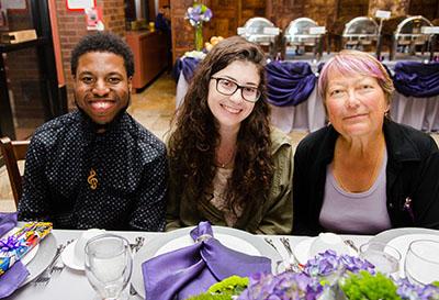 Volunteers at the Annual Volunteer Celebration Dinner