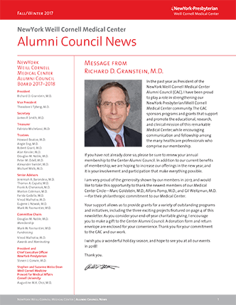 Front page of the current issue of newsletter