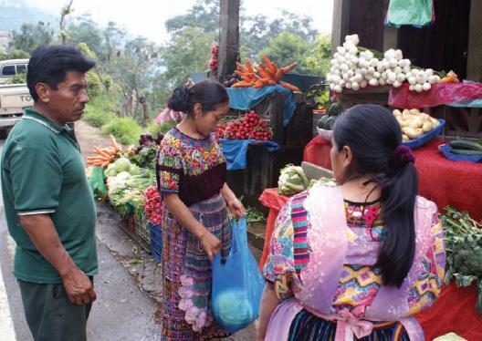 Guatemalan People in Market