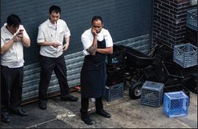 Restaurant Workers Smoking