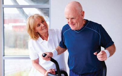 Picture of elderly male exercising