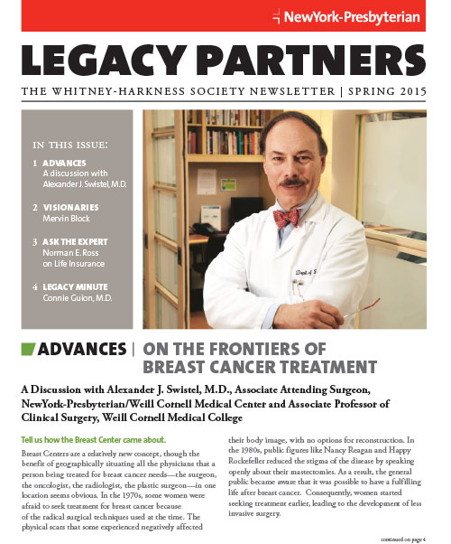 Legacy Partners Newsletter Spring 2015