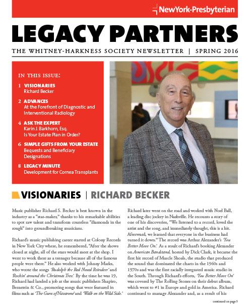 Legacy Partners Newsletter Spring 2016