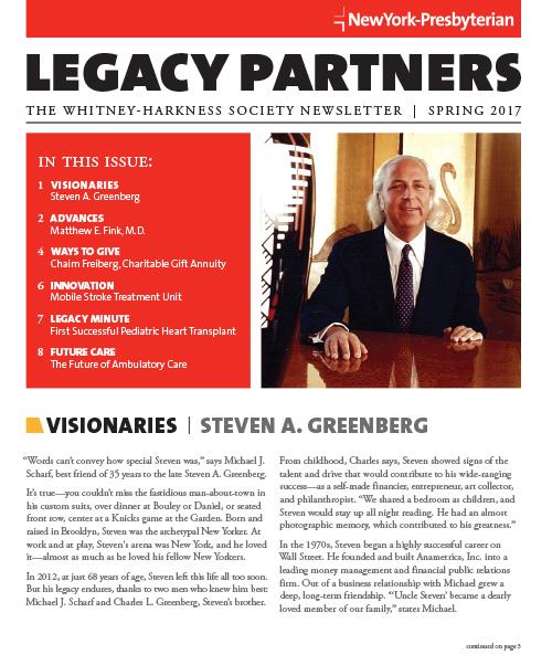Legacy Partners Newsletter Spring 2017