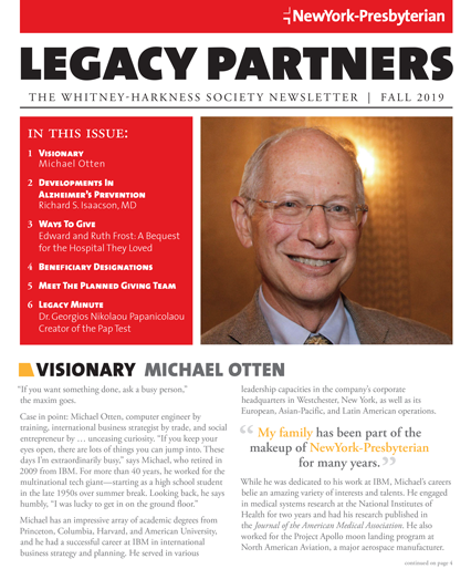 Legacy Partners Newsletter Fall 2019