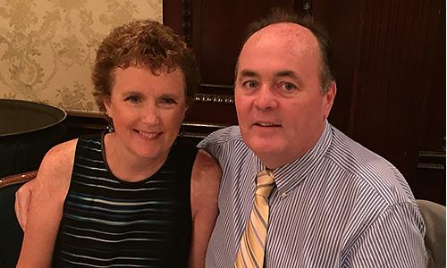 Glenn McMahon and wife