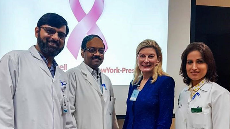doctors at the advances in breast cancer management in dubai - April 2019