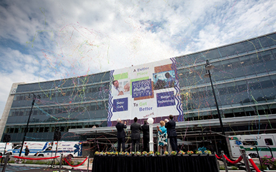 Opening of new $100 million Patient Tower and addition