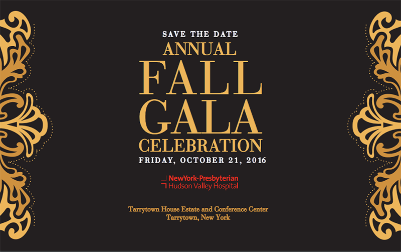 NewYork-Presbyterian/Hudson Valley Hospital Fall Gala 2016 Save the Date