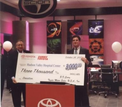 Curry Automotive Donates $3,000 to NewYork-Presbyterian/Hudson Valley Hospital at Grand Opening