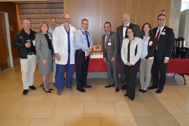 Doctors and staff at Doctors Day celebration