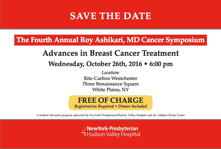 Save The Date: The Fourth Annual Roy Ashikari, MD Cancer Symposium