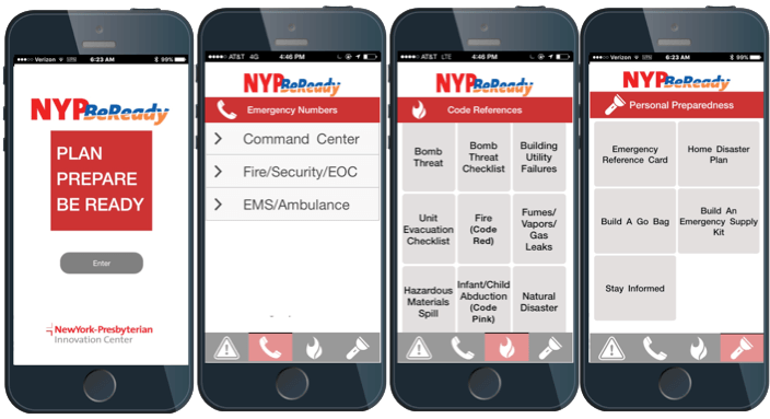 mockup of NYP BeReady being displayed on a smartphone