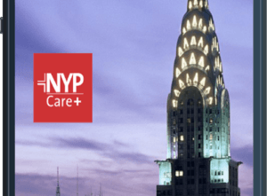 Image of Chrysler Building shown on the NYP Care+ mockup