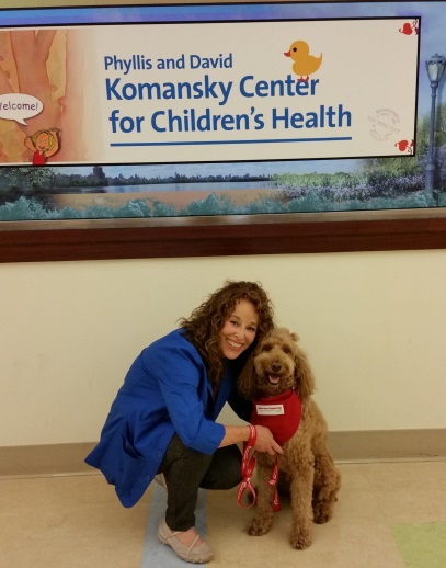 Dog therapy pet at NewYork-Presbyterian Komansky Children's Hospital