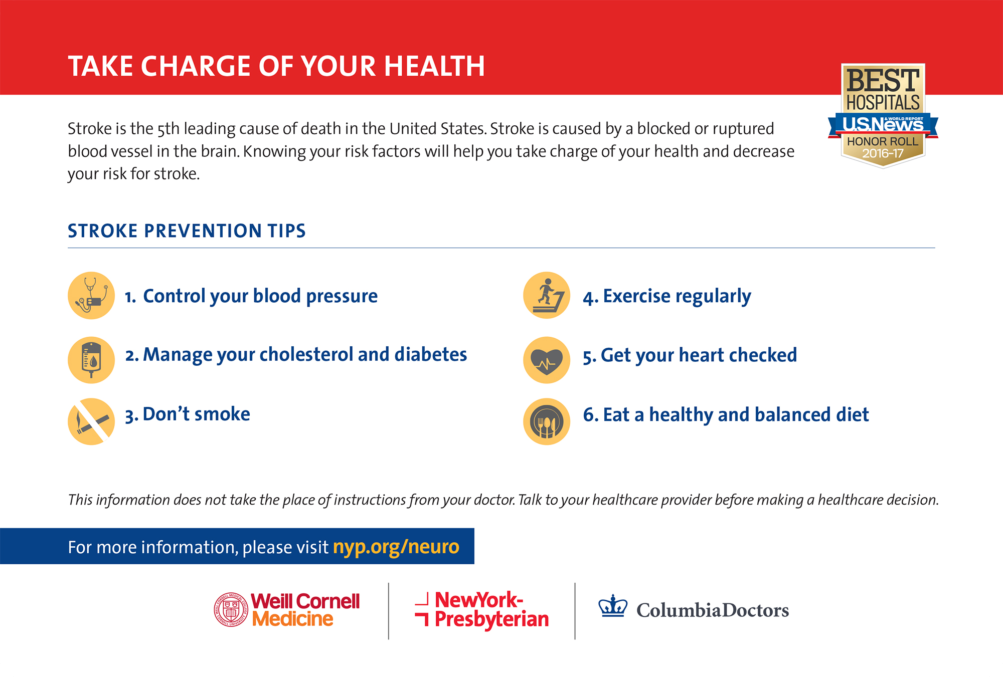 Stroke prevention tips