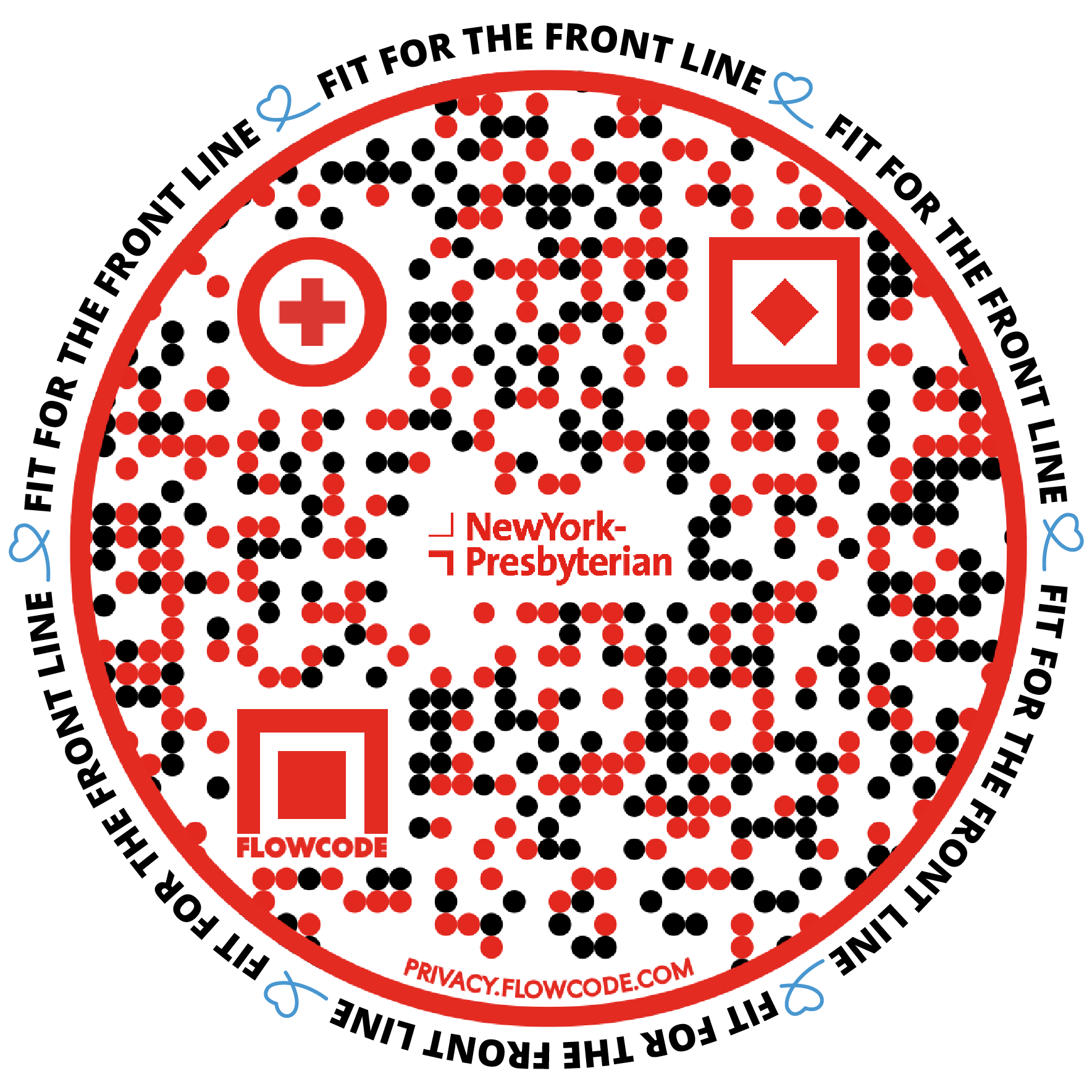 image of NYP's Fit for the Frontline Challenge QR Code