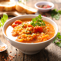 Sweet and Sour Red Lentil Soup