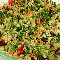 Quinoa Mint Salad with Almonds and Cranberries