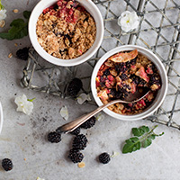 Whole Wheat Berry Crumble