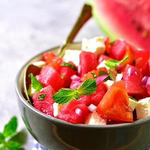 Watermelon Salad with Feta and Quinoa
