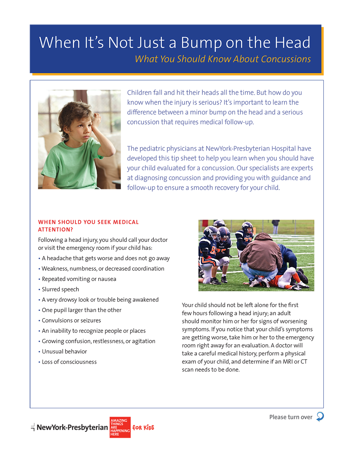 When It's not Just a Bump on the Head: What You Should Know about Concussions page 1
