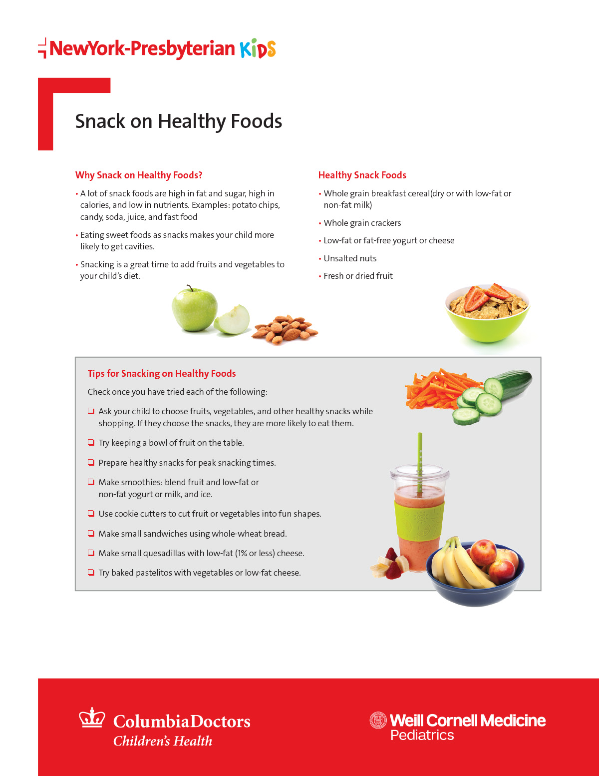 Snack on Healthy Foods