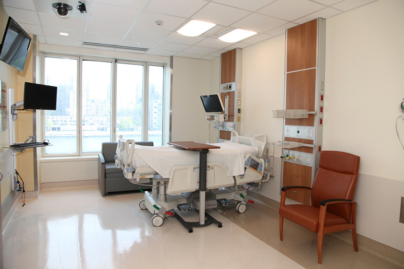 Each Neurological ICU room is private and filled with natural light and enough space for loved ones.