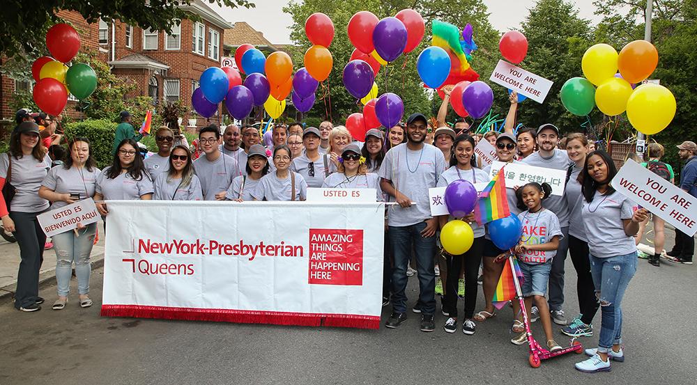 NewYork-Presbyterian Queens employees at Queens Pride 2016