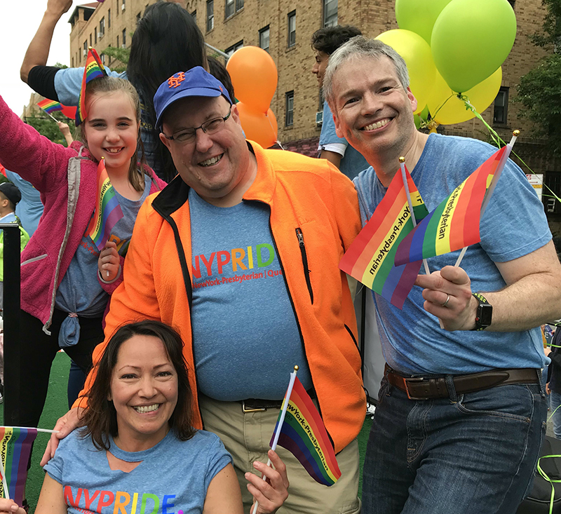 NewYork-Presbyterian Queens employees at the 2018 Queens Pride parade