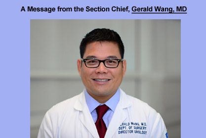 Message from Dr. Gerald Wang