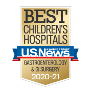 U.S. News Best Children's Hospitals - Gastroenterology and GI Surgery