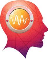 illustration of activity in human brain