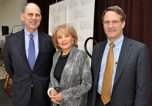 Dr. Jerry I. Gliklich, Barbara Walters and Craig R. Smith, MD
