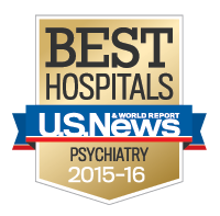US News honor roll badge for psychiatry