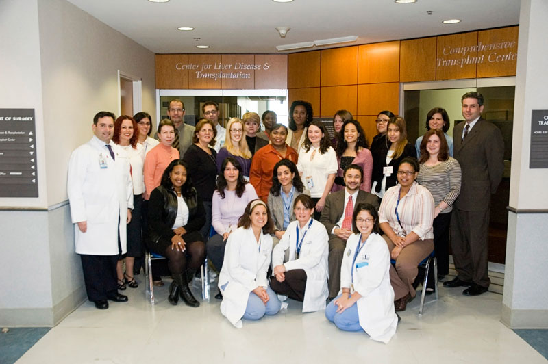 Staff at the Center for Liver Disease and Transplantation at New York-Presbyterian Hospital