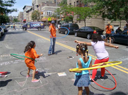 youngsters play at a CHALK event