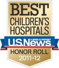 Best Children's Hospitals US News & World Report Honor Roll 2011-12