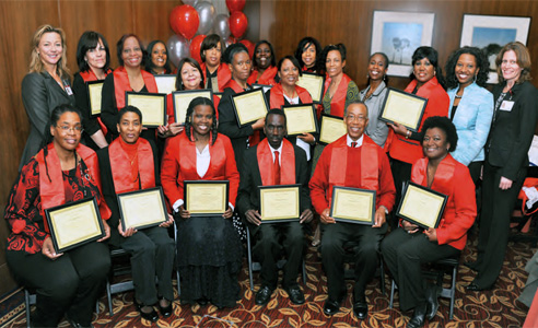 Heart Smarts Program graduates with diplomas