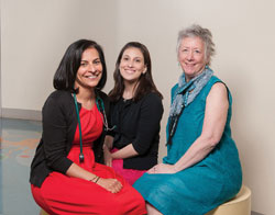 Monica Bhatia, M.D., Elana Smilow, CPNP, and Ria Hawks, CPNP
