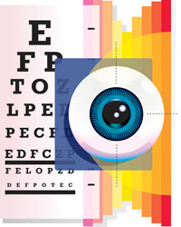 An eye exam chart